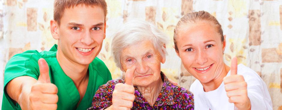 Medical Staffs and an elder femal patient